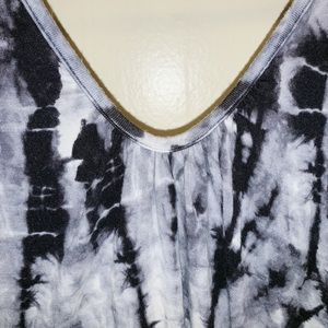 B Jewel Dresses - B Jewel Black and White Tie Dye Dress
